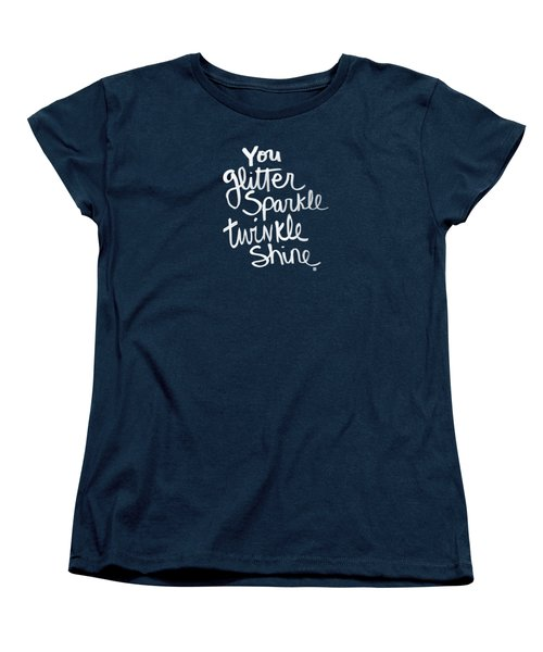 Glitter Sparkle Twinkle Women's T-Shirt (Standard Cut) by Linda Woods