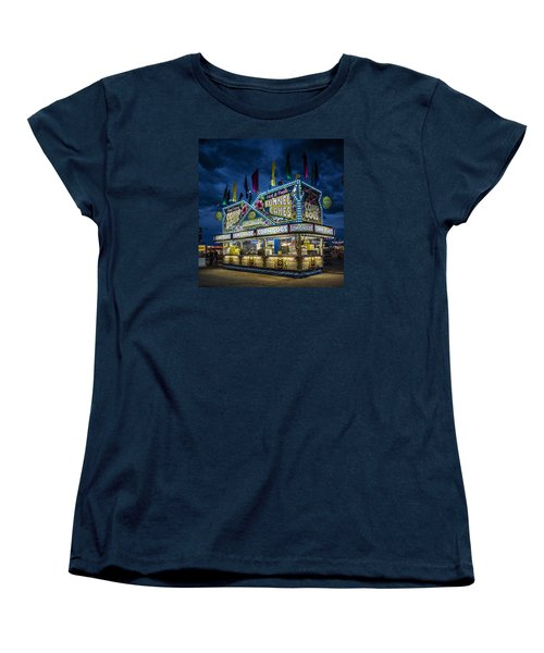 Glittering Concession Stand At The Colorado State Fair In Pueblo In Colorado Women's T-Shirt (Standard Cut) by Carol M Highsmith