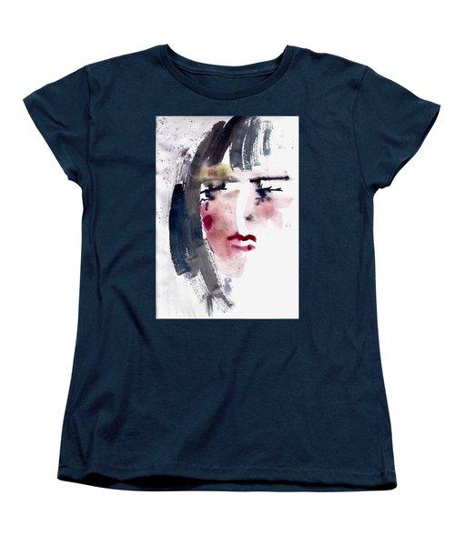 Women's T-Shirt (Standard Cut) featuring the painting Gloomy Woman  by Faruk Koksal
