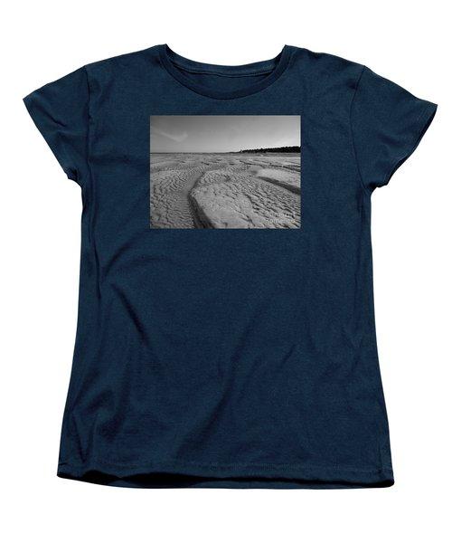 Gloucester Lighthouse Monocrhome Women's T-Shirt (Standard Cut) by Barbara Bardzik
