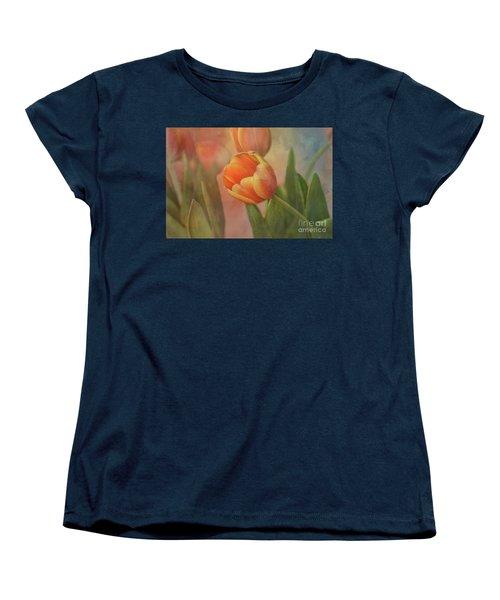 Glowing Tulip Women's T-Shirt (Standard Cut) by Joan Bertucci