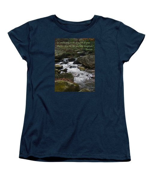 Go Confidently Women's T-Shirt (Standard Cut) by Deborah Dendler