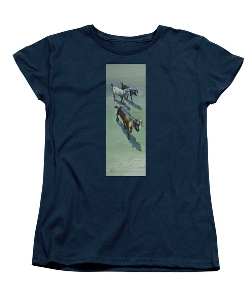 Women's T-Shirt (Standard Cut) featuring the painting Goat by Helal Uddin
