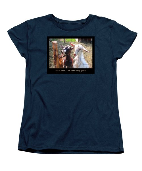 Goats Poster Women's T-Shirt (Standard Cut) by Felipe Adan Lerma