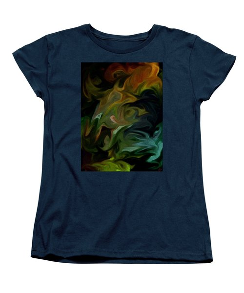 Women's T-Shirt (Standard Cut) featuring the painting Goblinz Abstract by Sheila Mcdonald