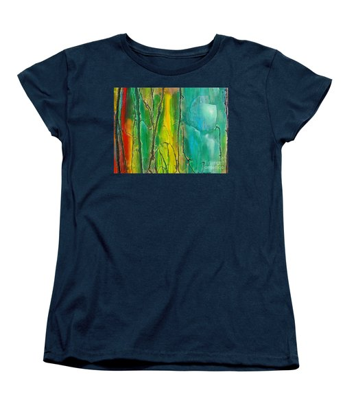 God Has Moved  Into The Neigborhood Women's T-Shirt (Standard Cut) by Dan Whittemore