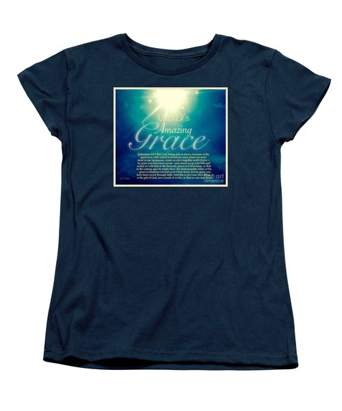 God's Amazing Gift Of Grace Women's T-Shirt (Standard Cut) by Kimberlee Baxter
