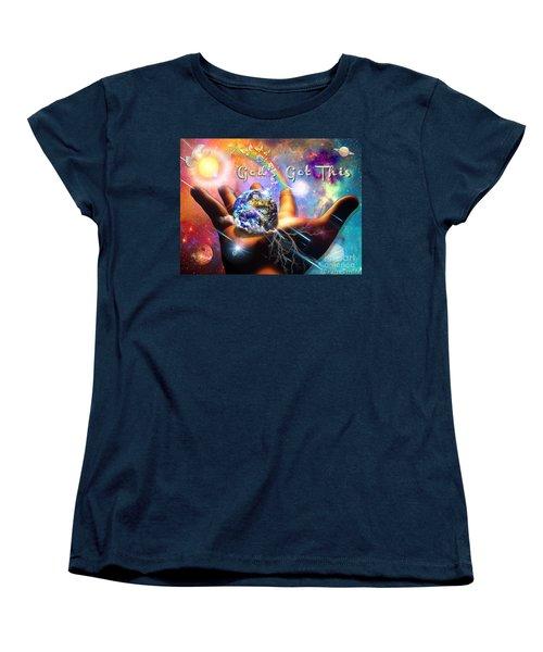 Women's T-Shirt (Standard Cut) featuring the digital art God's Got This by Dolores Develde