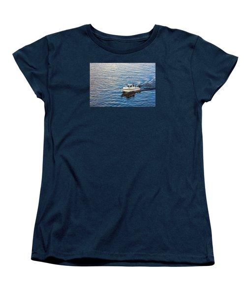 Women's T-Shirt (Standard Cut) featuring the photograph Going Fishing by Lewis Mann