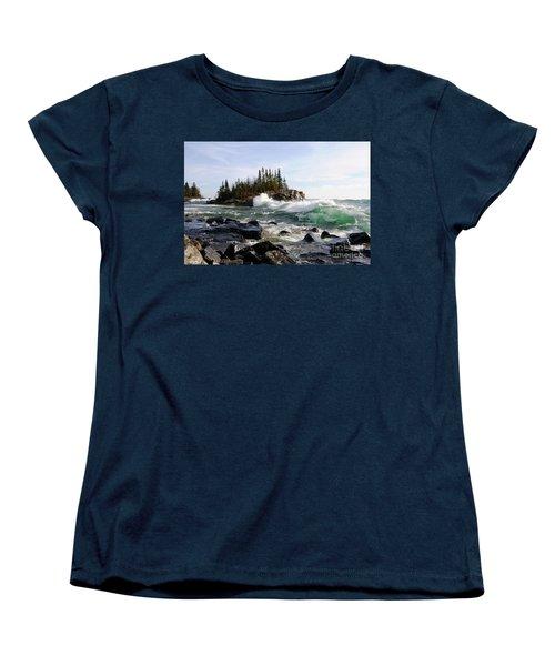 Going Wild Women's T-Shirt (Standard Cut) by Sandra Updyke