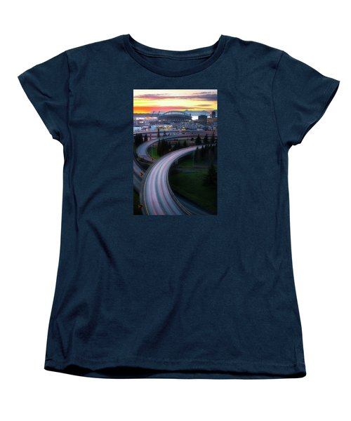 Gold And Arches Women's T-Shirt (Standard Cut) by Ryan Manuel