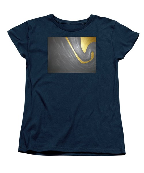 Women's T-Shirt (Standard Cut) featuring the painting Gold And Gray by Barbara Yearty