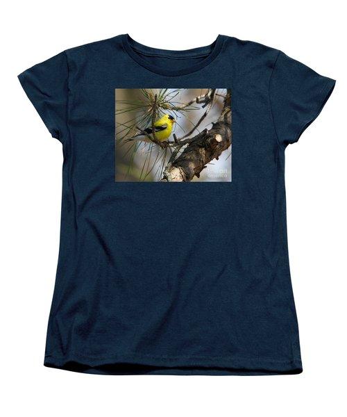 Gold Finch Women's T-Shirt (Standard Cut) by Roger Becker