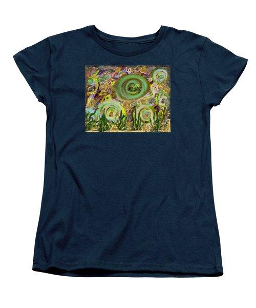 Gold Sand With Fish Illuminated Women's T-Shirt (Standard Cut) by Dan Twyman