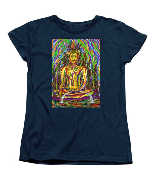 Golden Buddha Women's T-Shirt (Standard Cut) by Robert SORENSEN