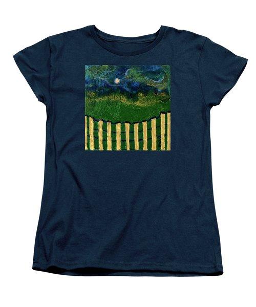 Golden Evening Women's T-Shirt (Standard Cut) by Donna Blackhall