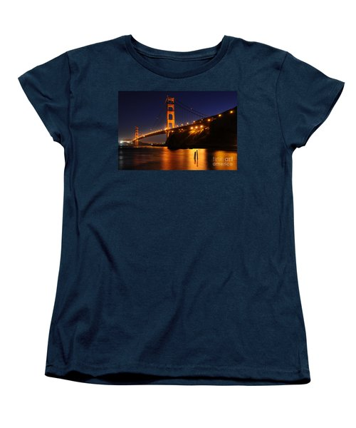 Women's T-Shirt (Standard Cut) featuring the photograph Golden Gate Bridge 1 by Vivian Christopher
