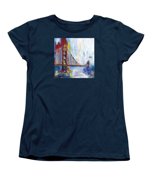 Golden Gate Bridge 218 1  Women's T-Shirt (Standard Cut) by Mawra Tahreem