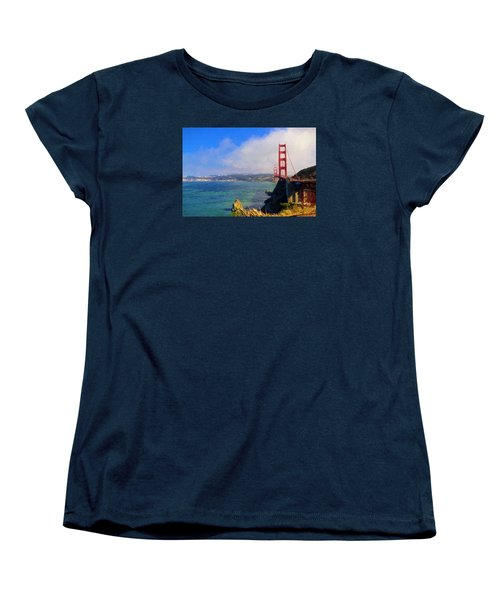 Golden Gate Women's T-Shirt (Standard Cut) by Greg Norrell