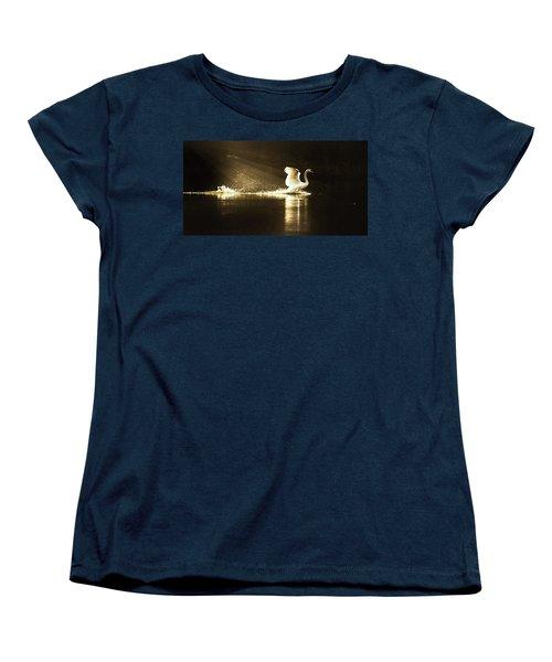 golden Light Women's T-Shirt (Standard Cut) by Rose-Marie Karlsen
