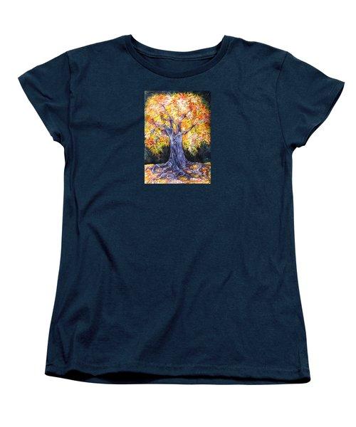 Golden Oak Women's T-Shirt (Standard Cut) by Anna  Duyunova