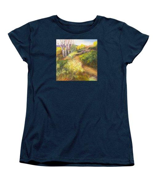 Golden Pathway Women's T-Shirt (Standard Cut) by Glory Wood
