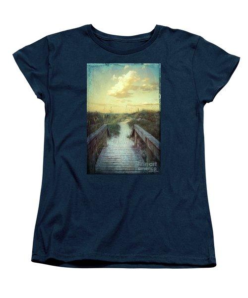 Golden Pathway Women's T-Shirt (Standard Cut) by Linda Olsen