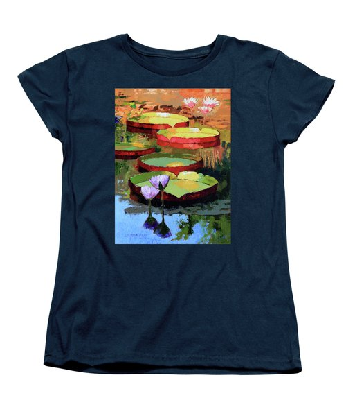 Golden Sunlight Reflections Women's T-Shirt (Standard Cut) by John Lautermilch