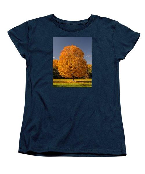 Golden Tree Of Autumn Women's T-Shirt (Standard Cut) by Gary Slawsky