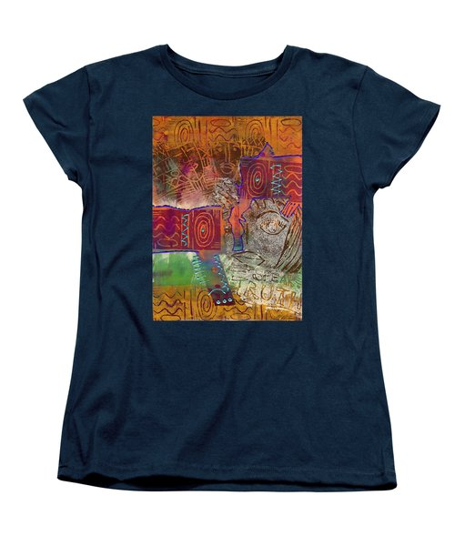 Women's T-Shirt (Standard Cut) featuring the painting Golden Truth by Angela L Walker