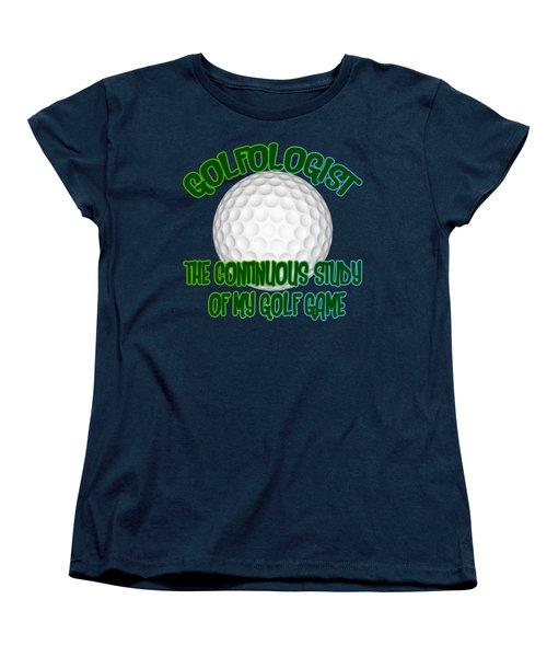 Golfologist Women's T-Shirt (Standard Cut) by David G Paul