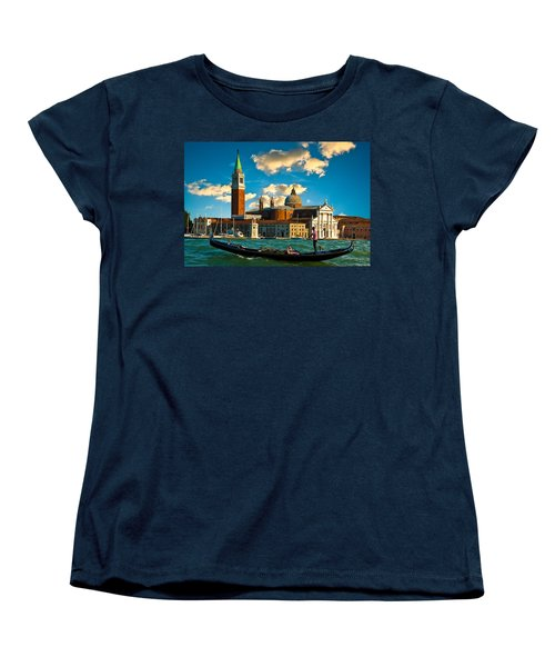 Gondola And San Giorgio Maggiore Women's T-Shirt (Standard Cut) by Harry Spitz
