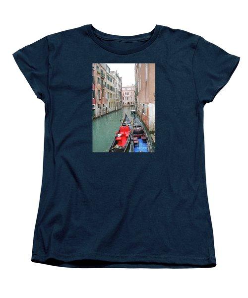 Gondola Love Women's T-Shirt (Standard Cut) by Linda Prewer