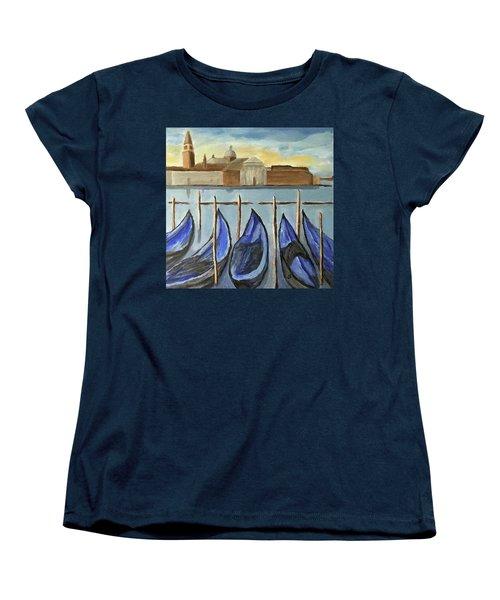 Gondolas Women's T-Shirt (Standard Cut) by Victoria Lakes