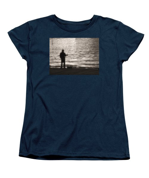 Women's T-Shirt (Standard Cut) featuring the photograph Gone Fishing by Mark Alan Perry