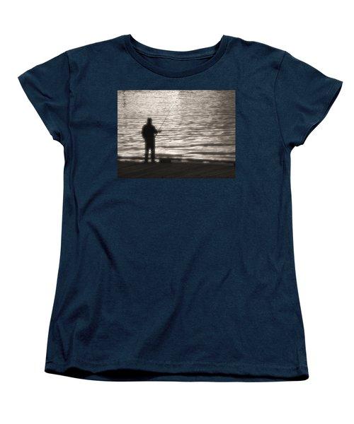 Gone Fishing Women's T-Shirt (Standard Cut) by Mark Alan Perry