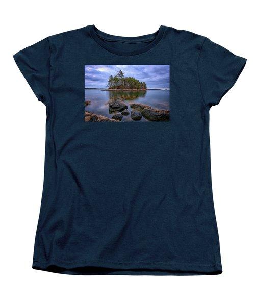 Women's T-Shirt (Standard Cut) featuring the photograph Googins Island by Rick Berk