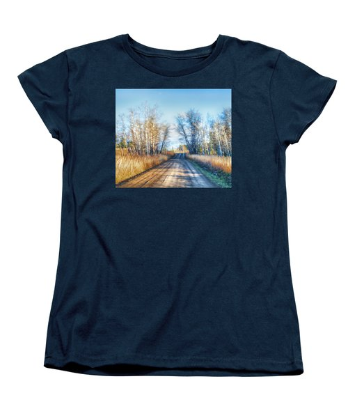 Goose Lake Road Women's T-Shirt (Standard Cut) by Theresa Tahara