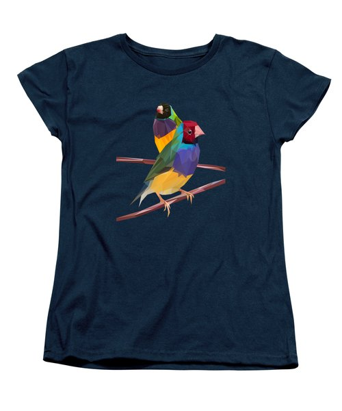 Gouldian Finch Duo Women's T-Shirt (Standard Cut) by James Bryson