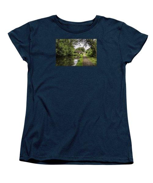 Goytre Wharf  Bridge Women's T-Shirt (Standard Cut) by Steve Purnell