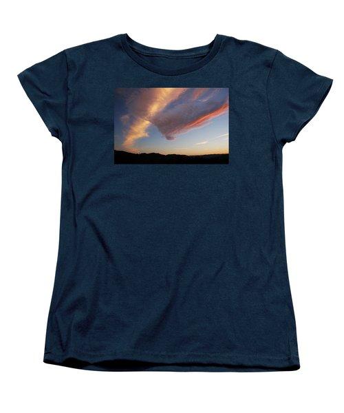 Graceful Pink Clouds Women's T-Shirt (Standard Cut)