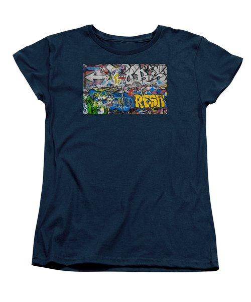 Grafitti On The U2 Wall, Windmill Lane Women's T-Shirt (Standard Cut) by Panoramic Images