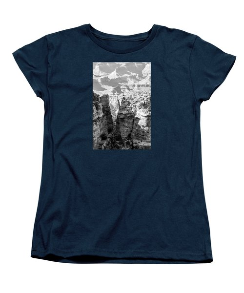 Women's T-Shirt (Standard Cut) featuring the photograph Grand Canyon Bw Impression by Juergen Klust