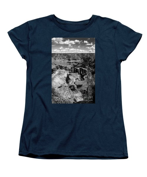 Grand Canyon Bw Women's T-Shirt (Standard Cut) by RicardMN Photography