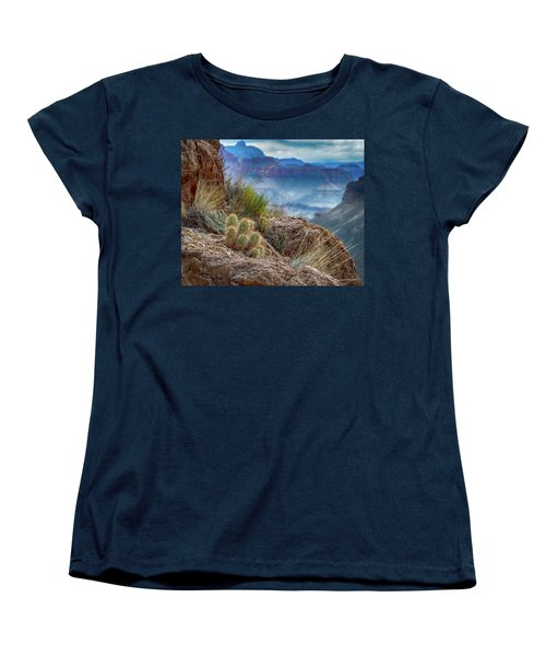 Women's T-Shirt (Standard Cut) featuring the photograph Grand Canyon Cactus by Phil Abrams