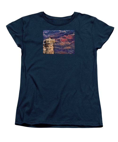 Women's T-Shirt (Standard Cut) featuring the photograph Grand Canyon Stacked Rock by Roberta Byram