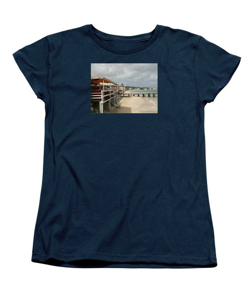 Grand Case Pier Women's T-Shirt (Standard Cut) by Margaret Brooks
