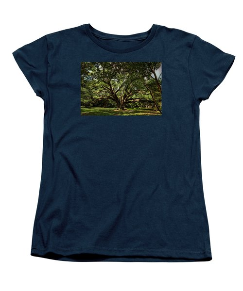 Grand Oak Tree Women's T-Shirt (Standard Cut) by Judy Vincent