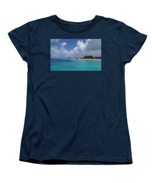 Women's T-Shirt (Standard Cut) featuring the photograph Grand Turk Beach by Lois Lepisto