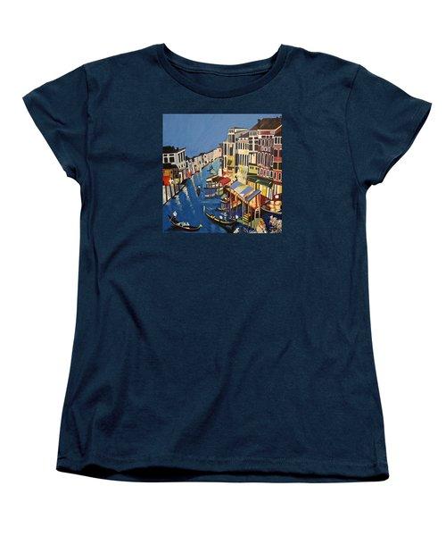 Grande Canal Women's T-Shirt (Standard Cut) by Donna Blossom